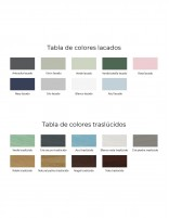Tabla de colores Bathforte