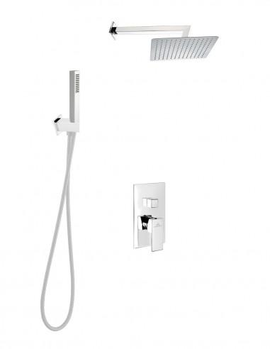 Conjunto de ducha + distribuidor Leon Cromo de aquassent