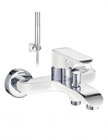Grifo bañera blanco - cromo modelo MISURI de Aquassent.