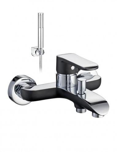 Grifo bañera negro - cromo MISURI de Aquassent.
