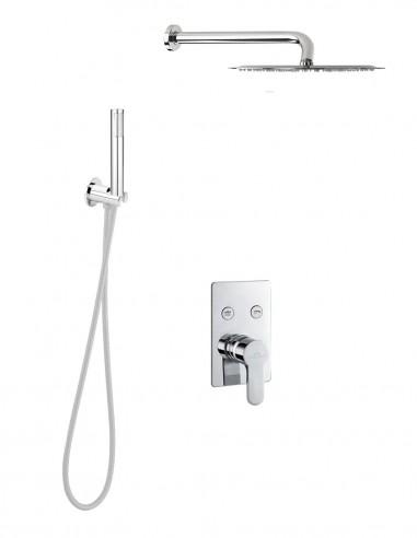 Set ducha MÁLAGA con dos salidas de Aquassent
