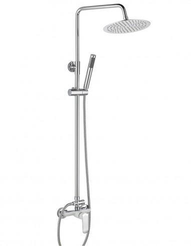 Columna ducha blanca - cromo modelo MISURI de Aquassent.
