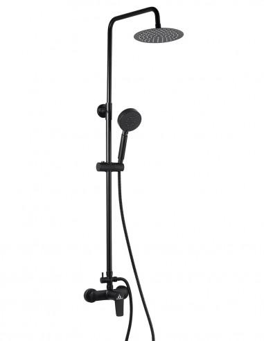 Columna de ducha negra modelo SAYRO de Aquassent.