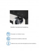 Conjunto de ducha termostático modelo KENDO de Aquassent - detalles