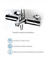 Columna de Ducha termostática modelo BALI de Aquassent - detalles