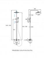 Conjunto de ducha de Aquassent modelo Bali - medidas