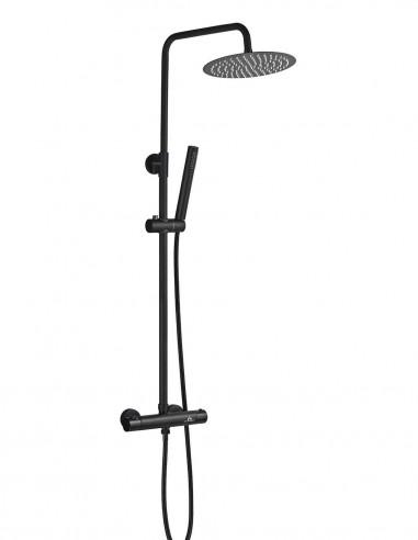 Columna ducha termostática negra modelo NERIS de Aquassent