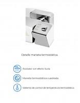 Conjunto de ducha termostática modelo TENERIFE de Aquassent - detalles