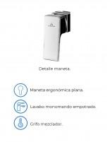 Grifo lavabo a pared modelo KENIA de Aquassent - detalles