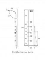 Columna hidromasaje modelo MELIANA de Aquassent - medidas