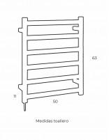 Toallero radiador de Pyp modelo AC 354 - medidas