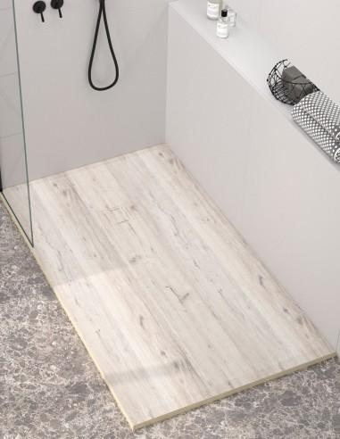 Plato de ducha madera DECAPÉ de Duplach