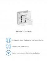 Portarrollo baño de PyP - detalles modelo Rubí