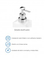 Dosificador de jabón RUBI de PyP - detalles