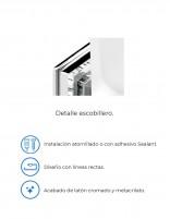 Escobillero completo para baño modelo RUBI de PyP - detalles