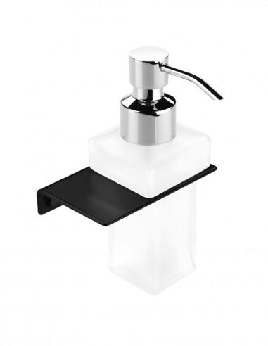 Dosificador de jabón pared modelo PLEXO negro de PyP