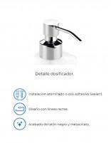 Dispensador de jabón a pared modelo PLEXO negro de PyP - detalles