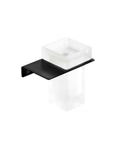 Portavasos para baño modelo PLEXO negro de PyP