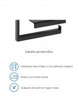 Portarrollo negro modelo PLEXO de PyP - detalles