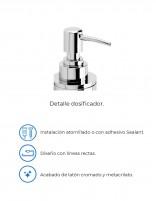 Dispensador jabón baño modelo AC-249 cromo de PyP - detalles