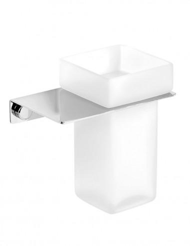 Portavasos de baño modelo PLEXO cromo de PyP