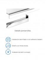 Portarrollos para papel PLEXO cromo de PyP - detalles