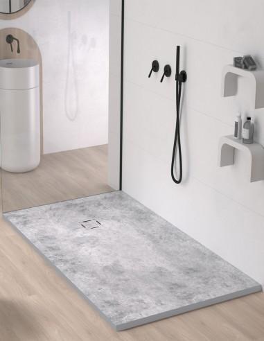 Plato de ducha extraplano microcemento de Duplach