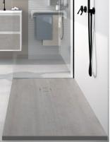 Plato de ducha gris cemento extraplano de Duplach