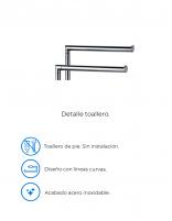 Toallero doble barra de pie modelo AC-240 de PyP - detalles