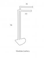 Toallero 2 barras modelo AC-240 de PyP - medidas