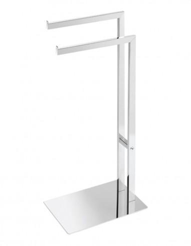 Toallero de pie para baño modelo AC-350 con doble barra de PyP
