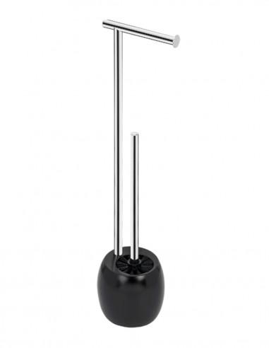 Toallero de pie negro - blanco modelo AC-351 de PyP