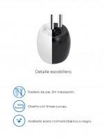 Toallero-escobillero de suelo negro - blanco modelo AC-351 de PyP - detalles
