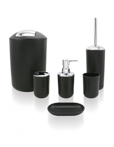 Set accesorios para baño modelo MINDI sobremesa de PyP - negro