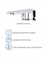Grifo de lavabo caño alto - detalles modelo BOSTON de Aquassent