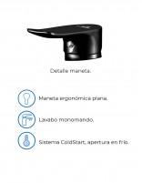Grifo negro lavabo alto modelo SAYRO de Aquassent - detalles