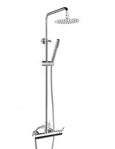 Columna de ducha acero inoxidable modelo FORMENTERA CROMO de Aquassent