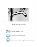 Columna de ducha-bañera modelo FORMENTERA cromo de Aquassent