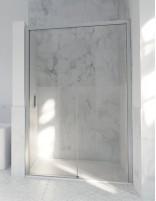 Mampara cristal templado modelo 502 plata de Hispabaño