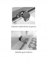 Mampara ducha angular blanca modelo 505 apertura al vertice corredera de Hispabaño - detalle rodamientos