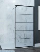 Mampara de ducha perfil negro 701 de Hispabaño