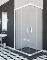 Mampara ducha perfil blanco modelo 205