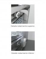 Mampara ducha angular 2 fijo y 2 correderas - detalle rodamientos modelo 205