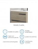 Mueble de baño pequeño modelo AURORA mini de Socimobel - detalles