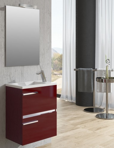 Mueble de baño pequeño para colgar modelo SAMARA de Socimobel