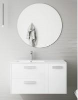 Mueble de baño moderno suspendido modelo Boss de Socimobel - Blanco brillo