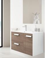 Mueble de baño diseño moderno de 2 cajones y 1 puerta modelo Boss de Socimobel - Atenea