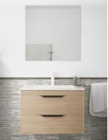 Mueble baño suspendido con tiradores negro modelo Cartier de Socimobel - charleston
