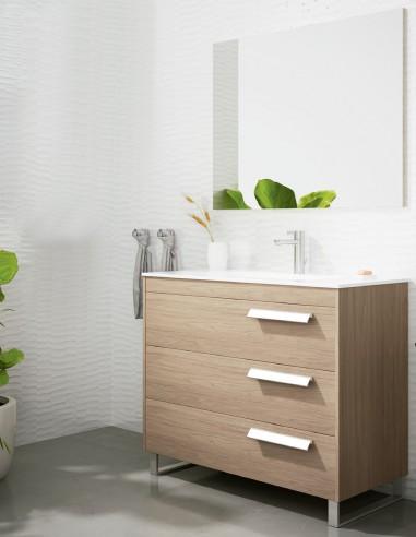 Mueble de baño con 3 cajones y patas modelo Lotus de Socimobel