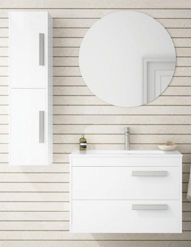 Mueble de baño con cajones y espejo modelo Lotus de Socimobel